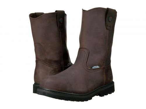 SKECHERS Work(スケッチャーズ) メンズ 男性用 シューズ 靴 ブーツ 安全靴 ワーカーブーツ Ruffneck Crazy Horse Dark Brown Leather [並行輸入品] B07F9Y7MR1 13 D Medium