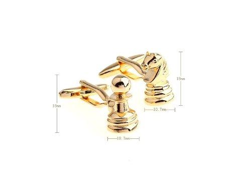 Plaqu/é rhodium laiton massif Ashton /& Finch Peices d/échecs en or boutons de manchette Avec bo/îte de pr/ésentation
