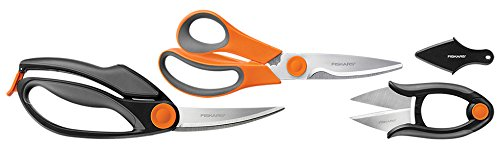 Fiskars 3 Piece Heavy-Duty, All-Purpose Fast-Prep Kitchen Shears Set, - Kitchen Professional Shears