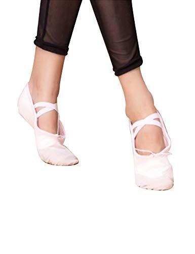 Lona Danza Zapatos Rosado del de de Mujer para Letuwj Vientre TYqSq6