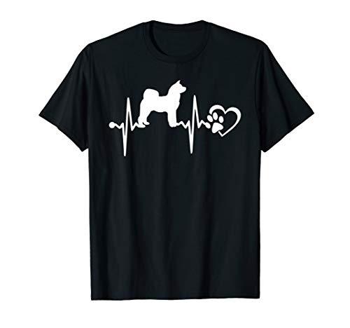 Akita Inu Dog Heart Heartbeat T Shirt Men Women Kid ()