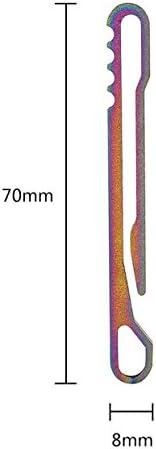 Clip de Cintur/ón Hebilla Colgante R/ápida de Aleaci/ón de Titanio Clip Llavero EDC