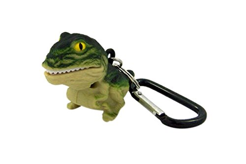 WildLight Green T-Rex LED Flashlight with Carabiner Clip, 2 Inch (H)