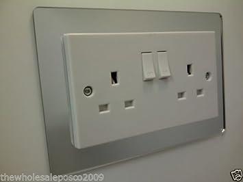 Double Plug Socket Surround Coloured Acrylic Decorative Perspex