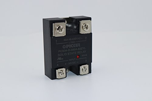 PCS34-D-380A-60ZYL 60 Amp 48-440 VAC Zero Crossing Hockey Puck Solid State Relay with LED and Varistor Cross: Carlo Gavazzi RM1A40D50 Crouzet 84134020 Crydom D2450PG UL Rated 4-32 VDC Input