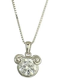 "<span class=""a-offscreen"">[Sponsored]</span>Rhodium Plated 925 Sterling Silver Swarovski Cubic Zirconia Zodiac Aries Fashion Pendant Necklace"