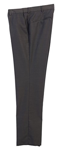 Gioberti Men's Hidden Expandable Waist Dress Pants, Charcoal B, Size - Dress Mens Charcoal