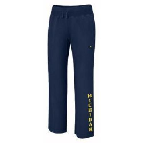 Nike Michigan Wolverines Ladies Navy Blue Classic Knit Sweatpants (X-Large) ()