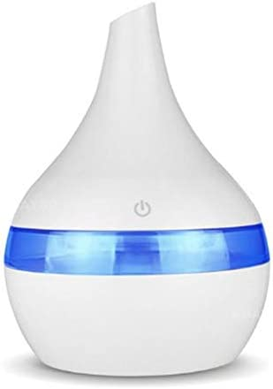 Chnzyr Ultraschall Luftbefeuchter Öle Diffuser Ernebler 300Ml Ätherisches Öl Diffusor USB Luftbefeuchter Cool Mist Humidifier Für Schlafzimmer Babyzimmer,Weiß