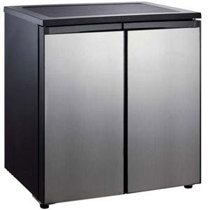 RCA 5.CU Ft Side by Side 2 Door Fridge Freezer RFR551, Stainless