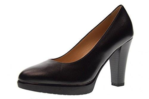 Black Avec A719120d Chaussures forme Et Talon Giardini Dcollet 100 Plate Nero x5vtwt