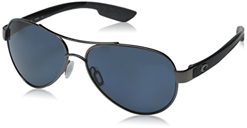 Costa Loreto Sunglasses Gunmetal w/Black Temples / Gray - Discounts Sunglasses