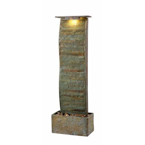 Kenroy Home 51025SL Meander Floor Fountain, (Natural Slate Stone Fountain)