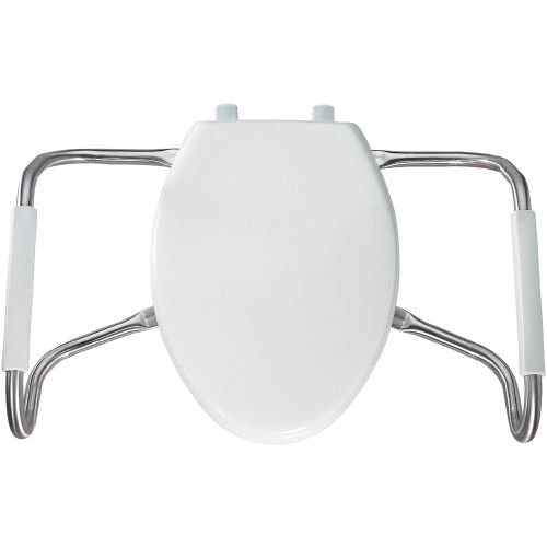 Bemis MA2100 Medic-Aid Elongated Closed Front Plastic Toilet Seat with Cove, White