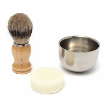 3-in-1-mens-shaving-kits-badger-hair-brush-stainless-steel-bowl-cup-shaving-soap-by-completestore