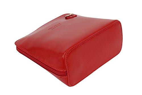 cuir Bag VL508 bandoulière AMBRA Moda Rouge City Petit en Sac a11F6f