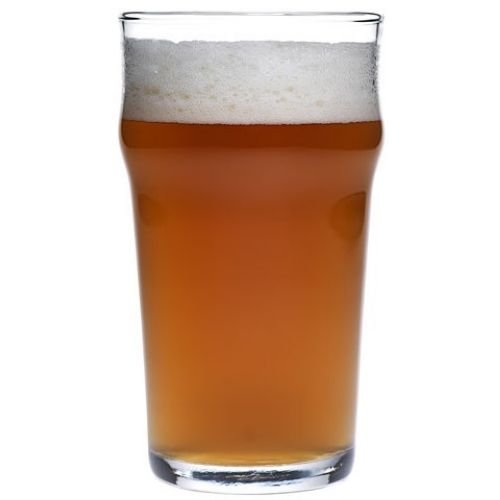 Anchor Hocking Rim Tempered English Pub Style Glass, 20 Ounce - 12 per case.