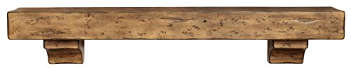 Pearl Mantels 412-72-10 The Shenandoah 72-Inch Shelf/Mantel Shelf Dune Rustic Distressed Finish - Mantel Pearl