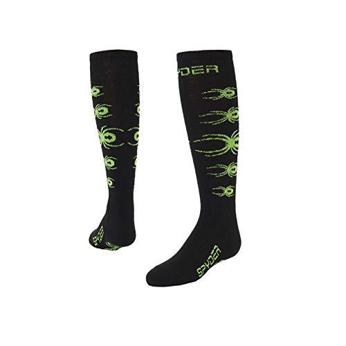 Spyder Boys' Bug Out Socks, Black/Fresh, X-Small ()