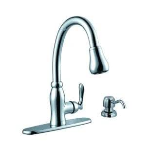 Glacier Bay Pavilion Pull Down Kitchen Faucet   Touch On Kitchen Sink  Faucets   Amazon.com
