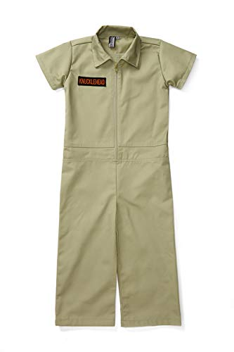 Born to Love Kids Coverall for Boys, Mechanic Halloween Jumpsuit Costume Baby Outfit (4T, Olive) -