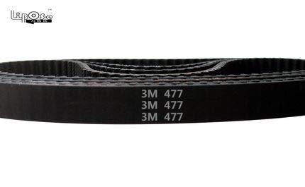 Fevas 10pcs//lot HTD 3M Timing Belt Closed-Loop 147mm Length 49 Teeth 6mm Width