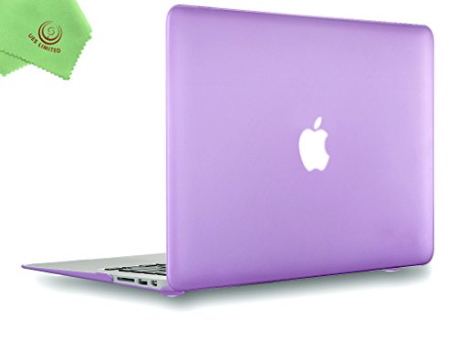 UESWILL Smooth Soft-Touch Matte Hard Shell Case Cover for 2008-2017 MacBook Air 13 inch (Model A1466 / A1369) + Microfibre Cleaning Cloth, Purple