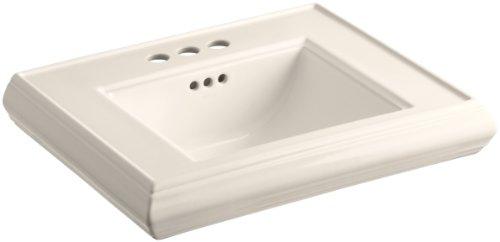 "KOHLER K-2239-4-55 Memoirs Pedestal Bathroom Sink Basin with 4"" Centers, Innocent Blush"