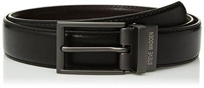 Steve Madden Men's Dress Casual Every Day Reversible Leather Belt