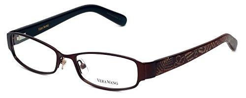 VERA WANG Eyeglasses V043 Burgundy 50MM