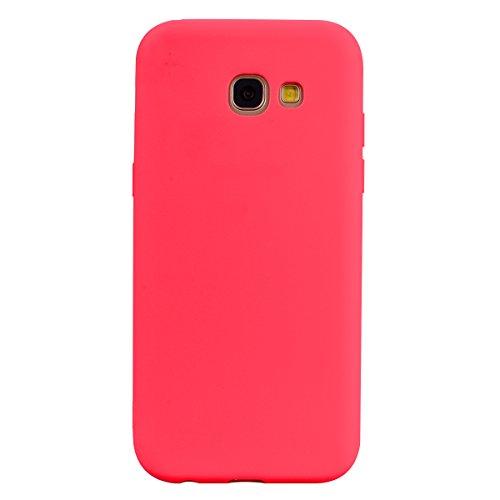 Funda Galaxy A3 2017 / Galaxy A320 , SpiritSun Soft TPU Silicona Handy Candy Carcasa Funda para Samsung Galaxy A320 (4.7 Pulgadas) Suave Silicona Piel Carcasa Ultra Delgado y Ligero Goma Flexible Phon Rojo