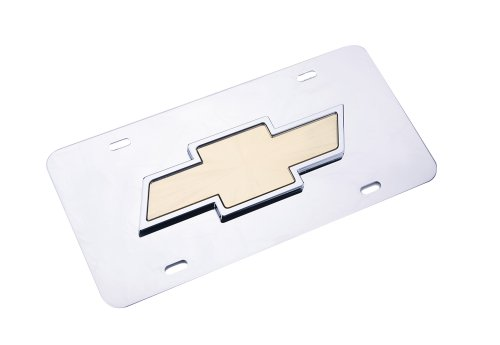 Pilot Automotive Accessory LP-011B Chevrolet Chrome 3D Plate Chevy License Plate