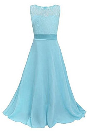 Buy light blue and pink prom dress - 7