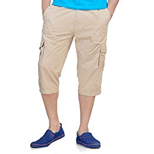 0-Degree Men's Regular Fit Three Quarter Shorts