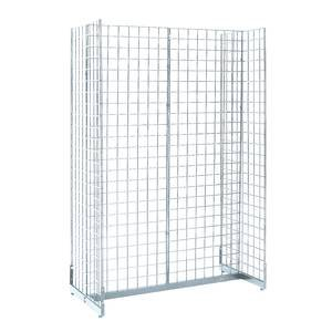 Gondola Grid Display Chrome, 48 x 24 x 72 (W x D x H) by Retail Resource