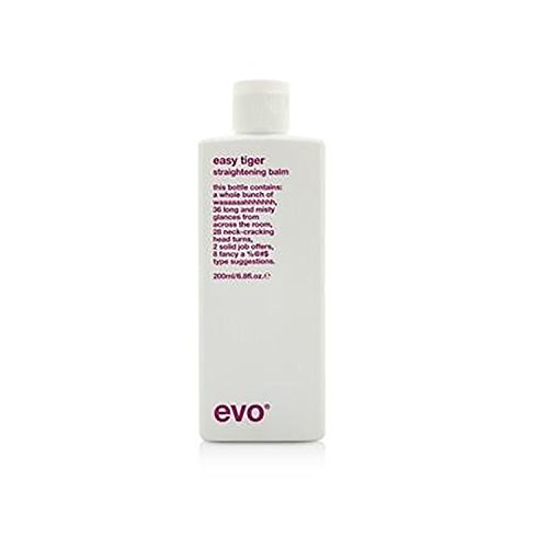 Evo Easy Tiger Straightening Balm (For All Hair Types, Especially Thick Coarse Hair) 200Ml/6.8Oz - Thick Tiger