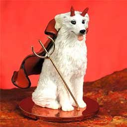 Kuvasz Little Devil Dog Figurine