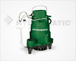 - Hydromatic HP33 Cast Iron Sump Pump, 10' Power Cord
