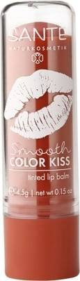 SANTE Smooth Color Kiss Tinted Lip Balm - Tone Soft Coral - Nourishing care for a hint of colour - Moisturising Rich in vitamin E - With fruity fragrance - Free from lactose & gluten