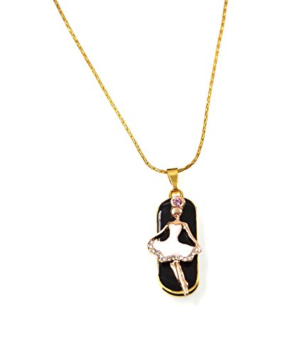 FEBNISCTE 32GB Thumb Drive USB 2.0 Pendrives - Crystal Dance Angel with Necklace