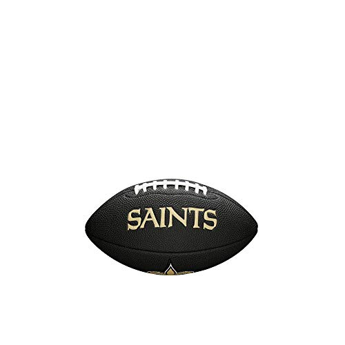 Wilson Sporting Goods NFL New Orleans Saints Team Logo Football, Black, Mini Size