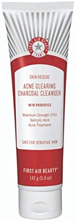 Facial Cleanser: First Aid Beauty Skin Rescue Acne Clearing Charcoal Cleanser