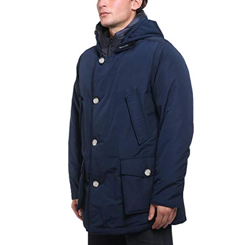 Giacca Wocps2476 Woolrich D'anatra Piumino Size Blue Melton xl In 6xqwRUO