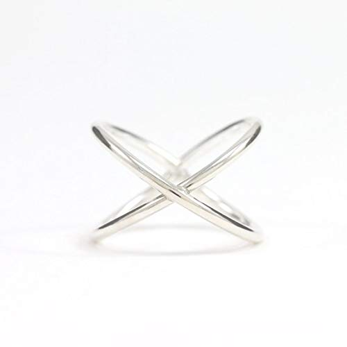 bfab24db1 Amazon.com: Criss Cross Ring - X Ring - Silver X Ring - Sterling ...