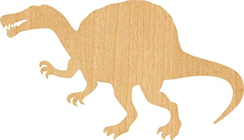 Spinosaurus Laser Cut Out Wood Shape Craft Supply - Unfinished(1/8 Inch, 5