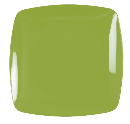 Renaissance 120-Piece Rounded Square China-Like Plate, 10-Inch, Green, Case of 12 by Renaissance