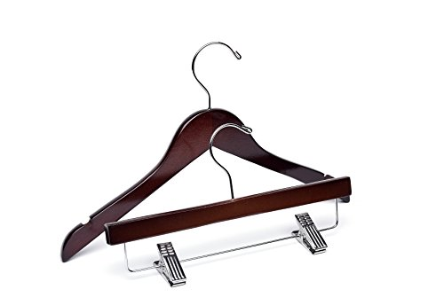 Baby Dark Walnut Wooden Hangers, Mix 60 Top 25 Bottom by WoodenHangersDirect