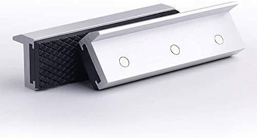 2 unidades protecci/ón multiusos para cualquier tornillo de banco de metal Cuasting Fundas universales para mordazas de tornillo de banco de 10,16 cm color plateado