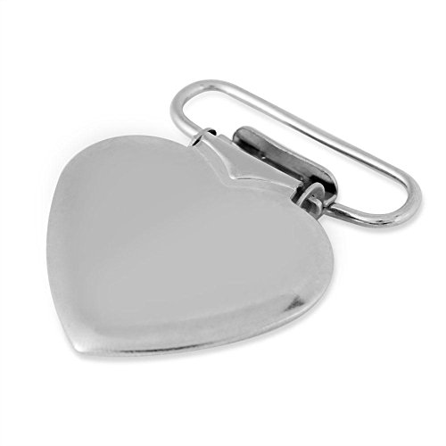 10 Pcs Pacifier Holder Suspender Clips, Metal Heart Shape Clip for Making Pacifier Holders Bib Toy Holder Clips Silver by Semme (Image #4)