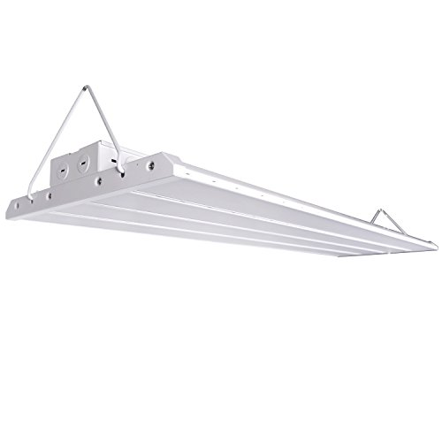 Hykolity 4' LED Linear High Bay Shop Light Fixture 200W [800W Fluorescent Equivalent] 26000lm 5000K Dimmable Commercial Grade Warehouse Area Indoor Industrial Lights DLC Premium 4.2 (Dimmable Fluorescent Light Fixtures)
